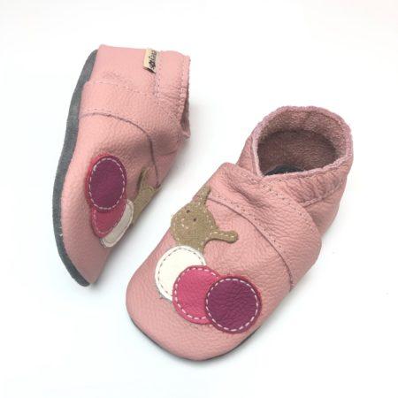 Krabbelschuhe Raupe Rosa/Pink
