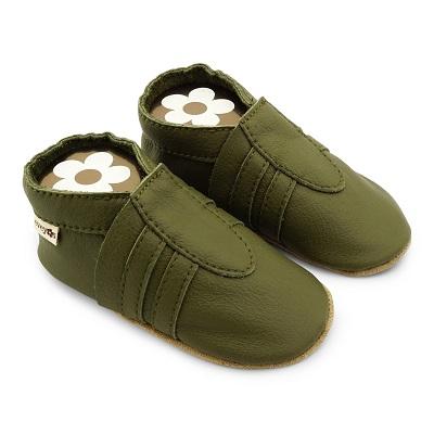 Krabbelschuhe Sneaker Basic Khaki