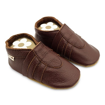 Krabbelschuhe Sneaker Basic brown