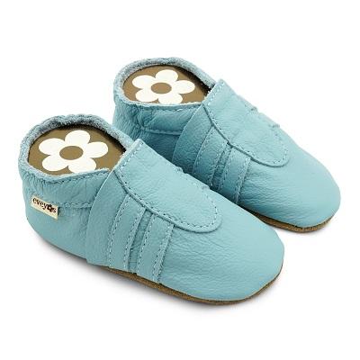 Krabbelschuhe Sneaker Basic hellblau