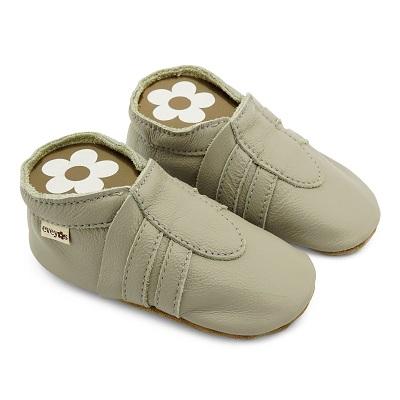 Krabbelschuhe Sneaker Basic hellgrau