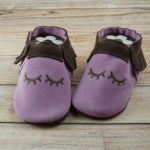 Krabbelschuhe Moccasins Wildleder Sleepy eyes