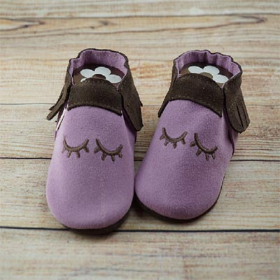 Moccasins Sleepy eyes auf Flieder/braun