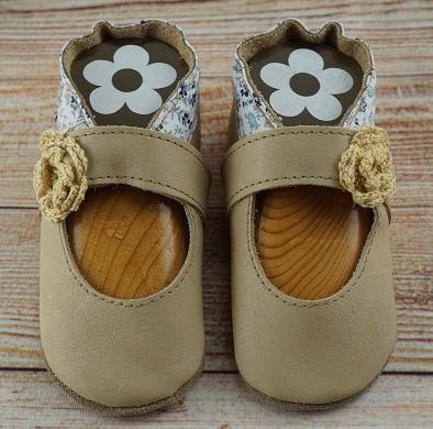 Krabbelschuhe nude Sandale