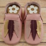 Moccs with feather