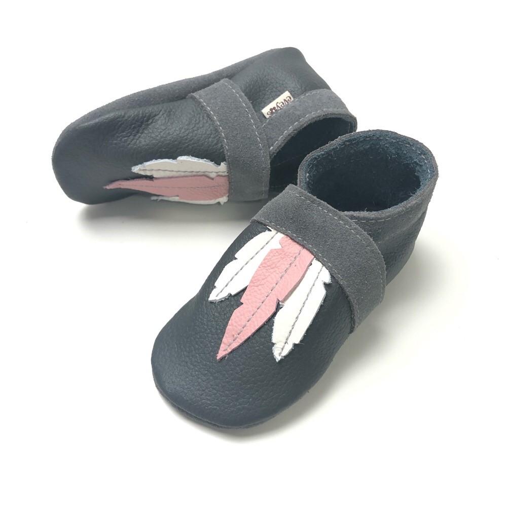 Krabbelschuhe Sneaker Basic Weiss/Silber 3