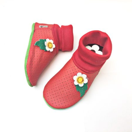 Lederstrumpf Erdbeere -Lochleder-