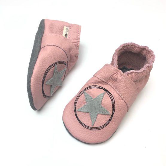 Krabbelschuhe, Lederpuschen, Sneaker, Babyschuhe, Lederstrumpf, Moccasins, Mokassin