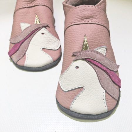 Krabbelschuhe Einhorn Rosa (mit Namen optional) unicorn
