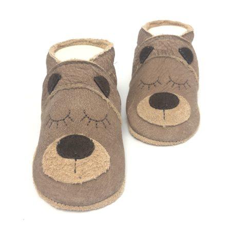 Krabbelschuhe Teddy NUBUK | Teddybär | Bär | Bärchen -Nur solange der Vorrat reicht!-