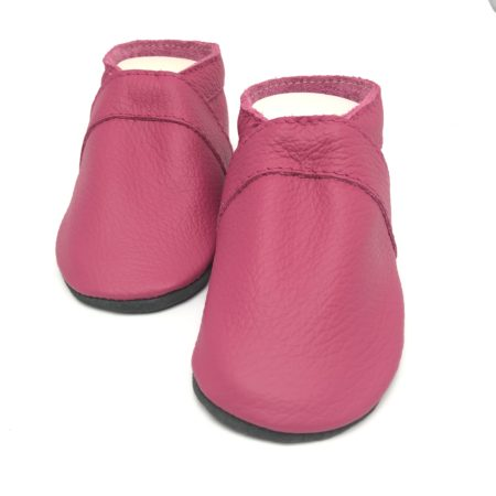 Krabbelschuhe UNI Pink (mit Namen optional)