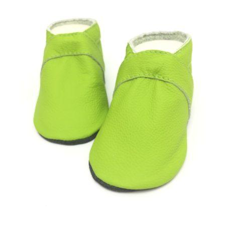 Krabbelschuhe UNI Limette Grün (mit Namen optional)