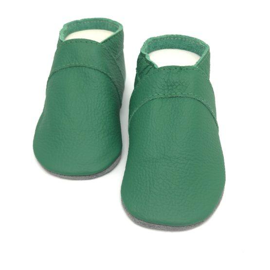 Lederpuschen Grün