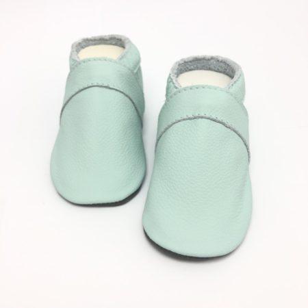 Krabbelschuhe UNI Babyblau (mit Namen optional)